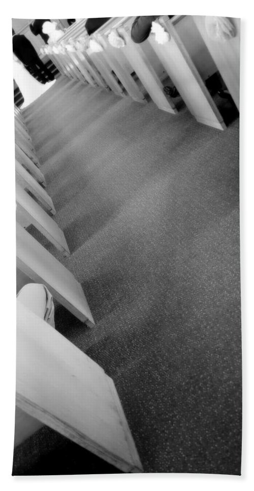 Down The Aisle Bath Sheet featuring the photograph Down The Aisle by Valentino Visentini