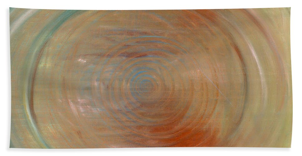 Abstract Hand Towel featuring the painting Down The Rabbit Hole by Jessica Rosen