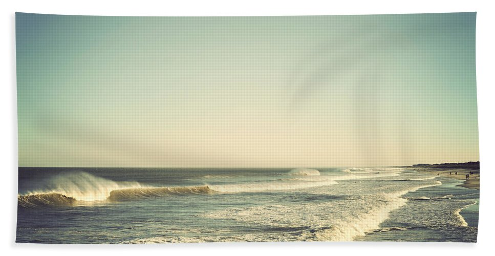 Terry Deluco Bath Sheet featuring the photograph Down The Shore - Seaside Heights Jersey Shore Vintage by Terry DeLuco