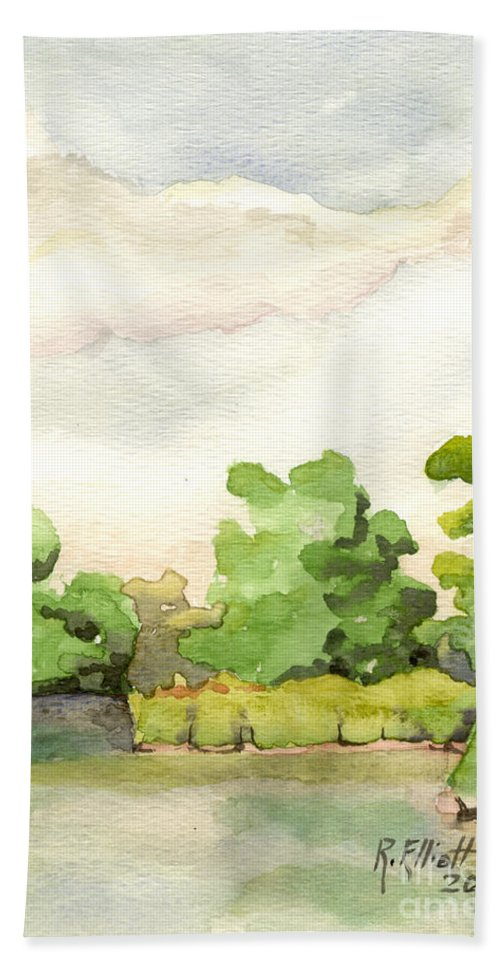 Acrylic Prints Hand Towel featuring the painting Downriver Napanee by John Herzog