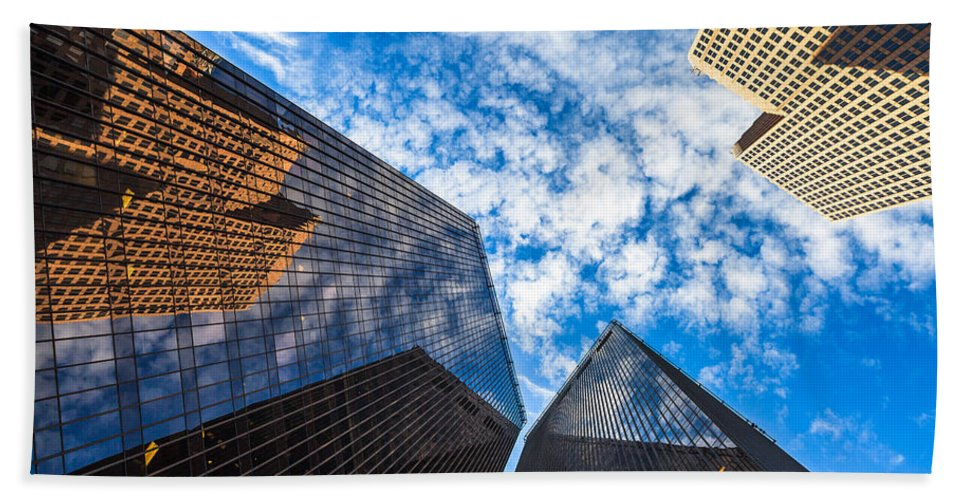 Architecture Hand Towel featuring the photograph Downtown Skyscrapers by Raul Rodriguez