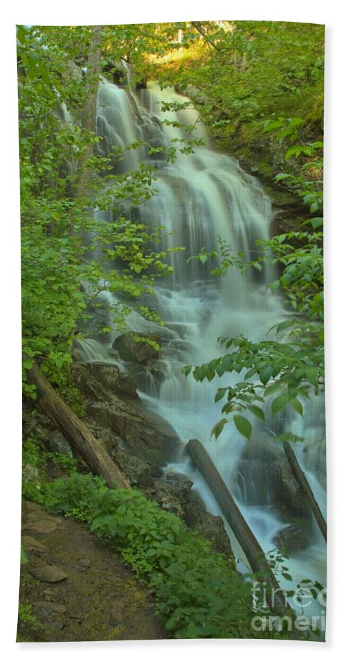 Lower Doyles River Falls Hand Towel featuring the photograph Doyles At Dusk by Adam Jewell
