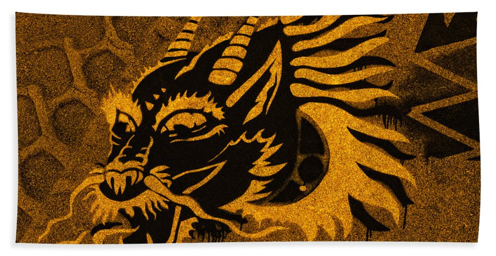 Ancient Hand Towel featuring the photograph Dragon by TouTouke A Y
