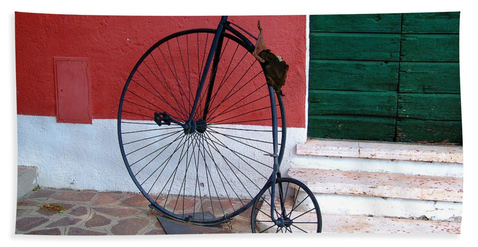 Bicycle Bath Sheet featuring the photograph Draisina by Alessandro Della Pietra