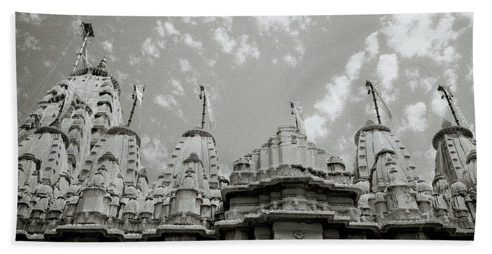 India Bath Sheet featuring the photograph The Jain Temples by Shaun Higson