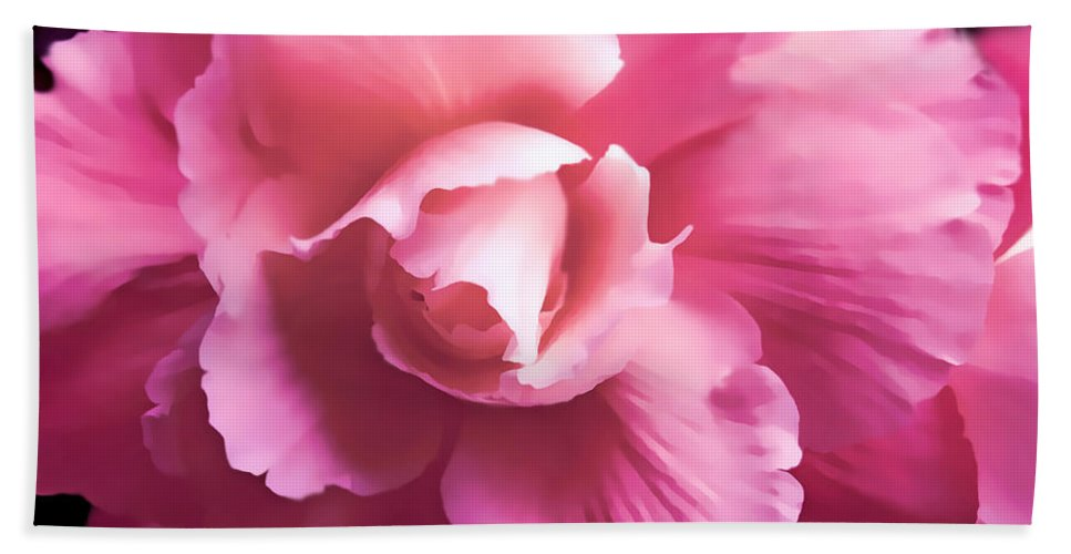 Begonia Bath Sheet featuring the photograph Dramatic Pink Begonia Floral by Jennie Marie Schell