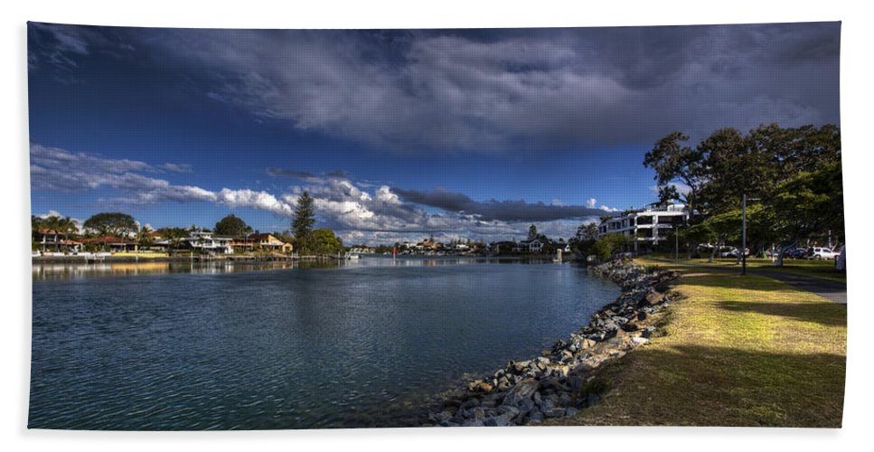 Gold Coast Hand Towel featuring the photograph Dramatic Sky by Darren Burton