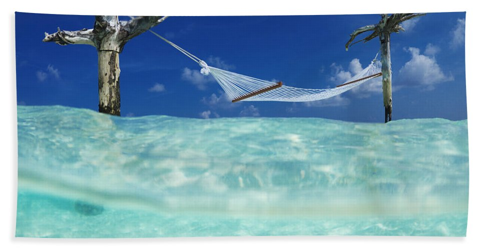 Tropical Hand Towel featuring the photograph Dream Hammock. by Sean Davey