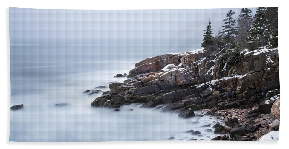 Acadia Hand Towel featuring the photograph Dream State by Evelina Kremsdorf