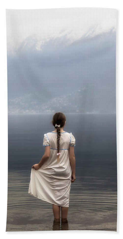 Girl Hand Towel featuring the photograph Dreaming In Water by Joana Kruse