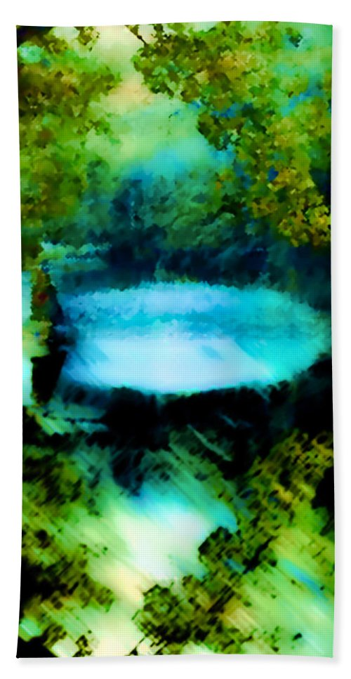 Water Hand Towel featuring the digital art Dreamland by Catherine Lott
