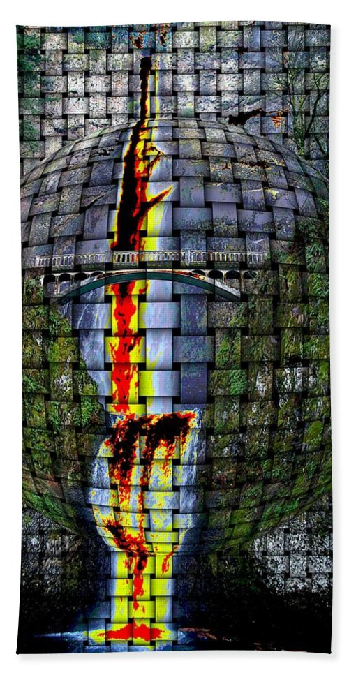 Waterfalls Hand Towel featuring the photograph Dreams Falling Into Dreams by Jeff Swan
