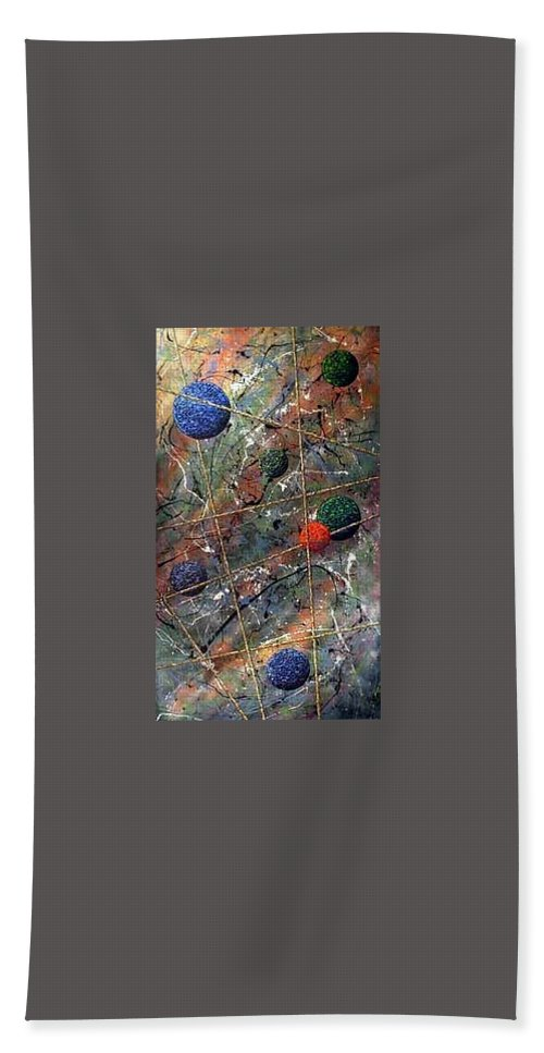 Abstract Bath Towel featuring the painting Dreamscape by Micah Guenther