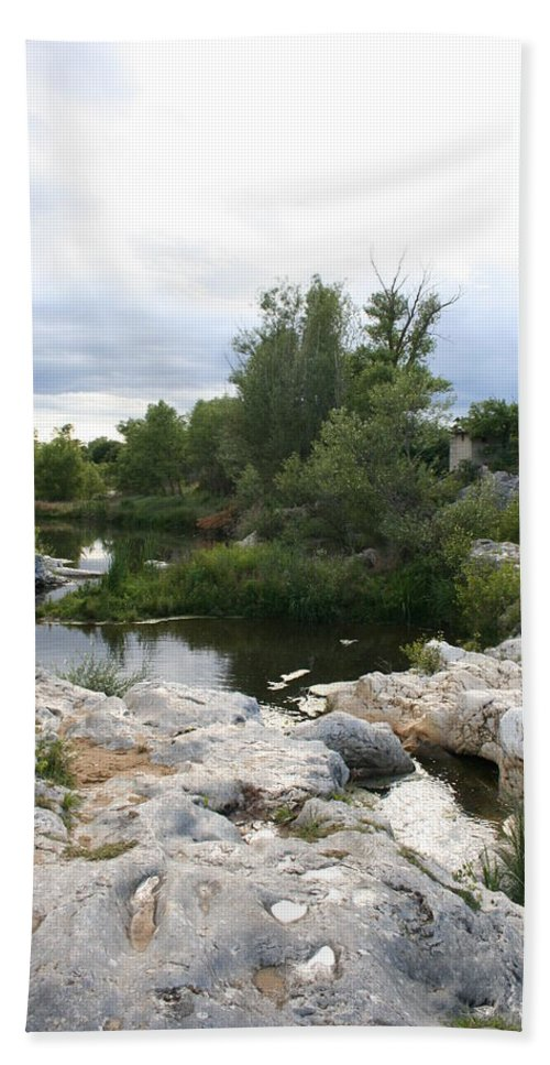 Stones Bath Sheet featuring the photograph Dreamy River by Christiane Schulze Art And Photography