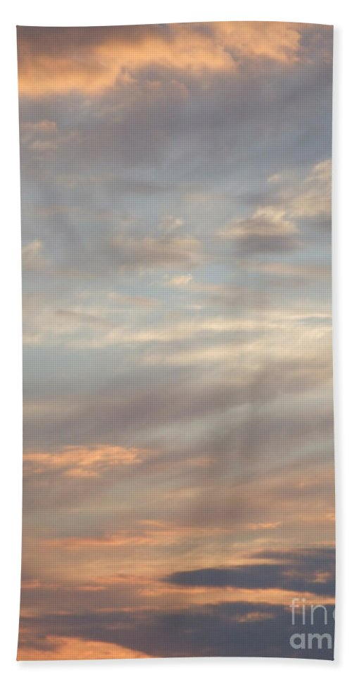 Dreamy Bath Sheet featuring the photograph Dreamy Sunset Sky by Antony McAulay