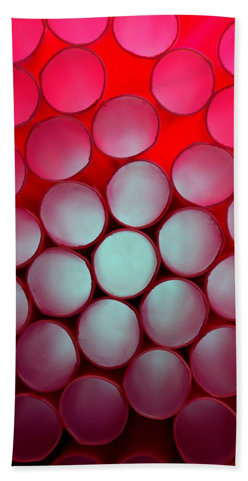 Color Bath Sheet featuring the photograph Drinking Straws by Yo Pedro