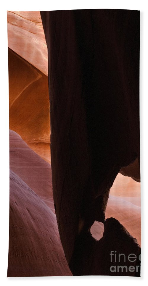 Dripping Cone Is An Abstract Photograph Of Lower Antelope Canyon Hand Towel featuring the photograph Dripping Cone by Mae Wertz