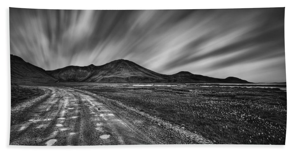 Landmannalaugar Hand Towel featuring the photograph Drives You Wild by Evelina Kremsdorf