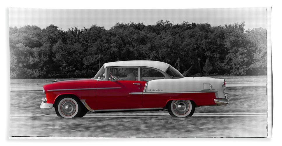 Chevy Bath Sheet featuring the photograph Driving A Dream by Debby Richards