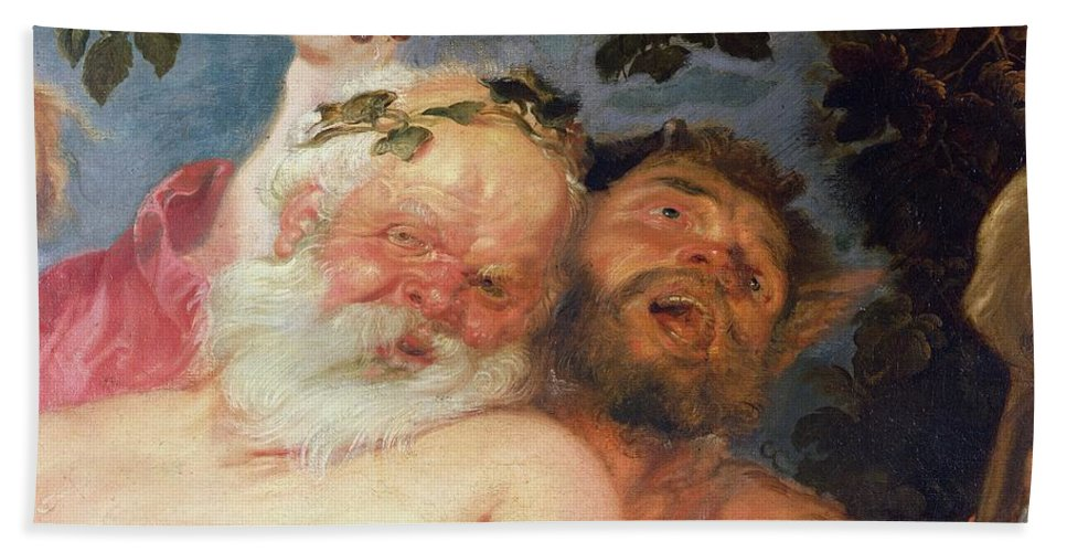 Rubens Bath Towel featuring the painting Drunken Silenus Supported By Satyrs by Peter Paul Rubens