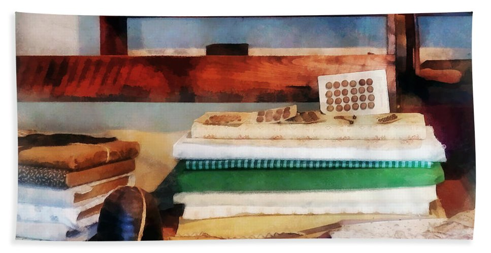 Cloth Hand Towel featuring the photograph Dry Goods For Sale by Susan Savad
