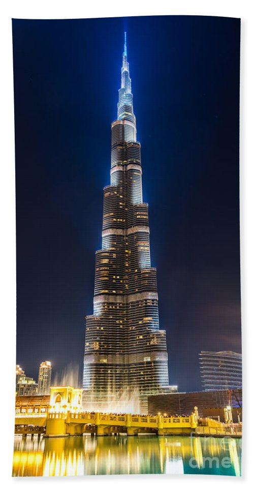 Dubai Hand Towel featuring the photograph Dubai - Burj Khalifa by Luciano Mortula