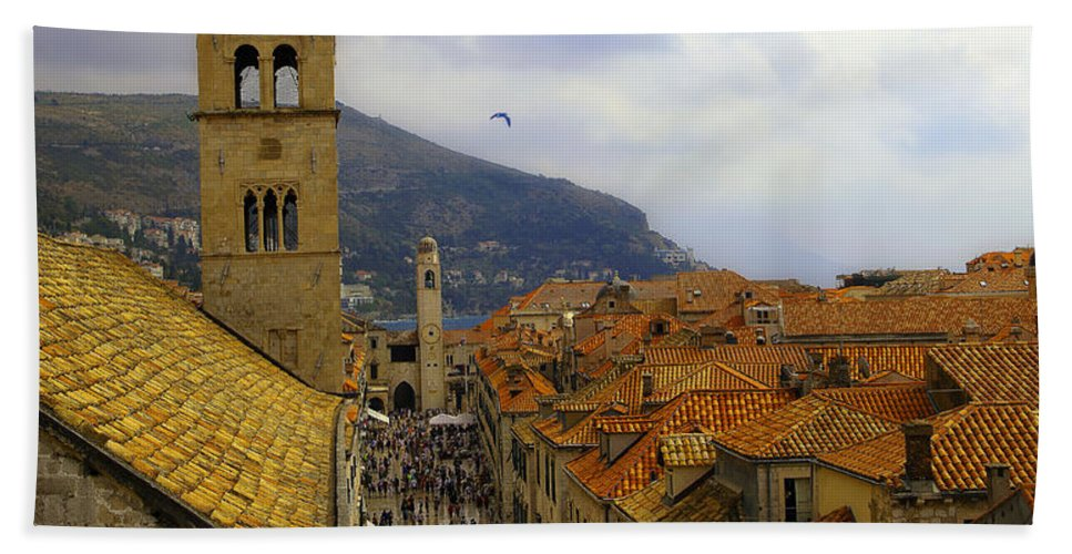 Dubrovnik Hand Towel featuring the photograph Dubrovnik - Old City by Madeline Ellis