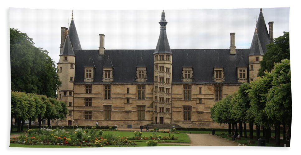 Palace Bath Sheet featuring the photograph Ducal Palace Nevers by Christiane Schulze Art And Photography