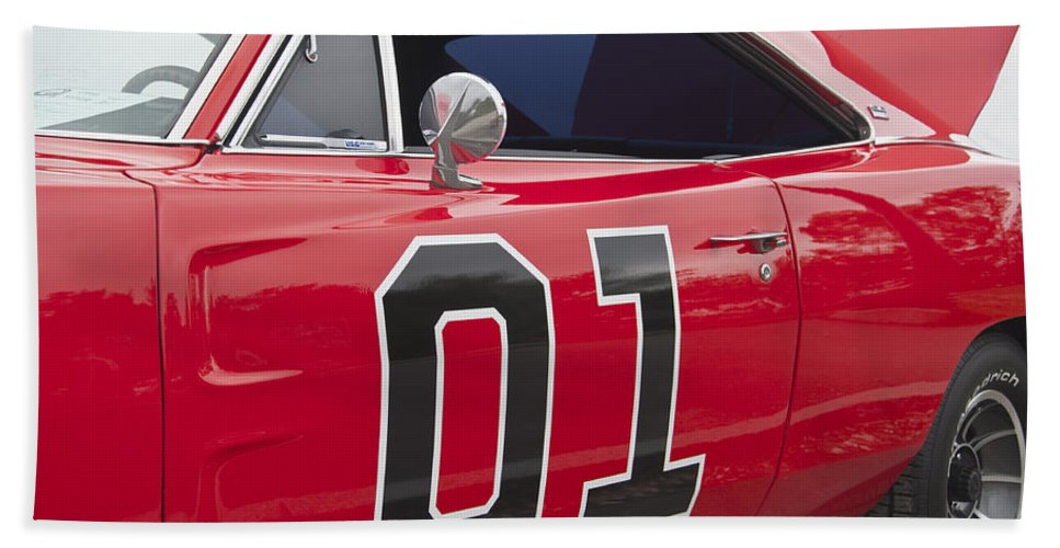 General Hand Towel featuring the photograph Dukes Of Hazard General Lee by Glenn Gordon