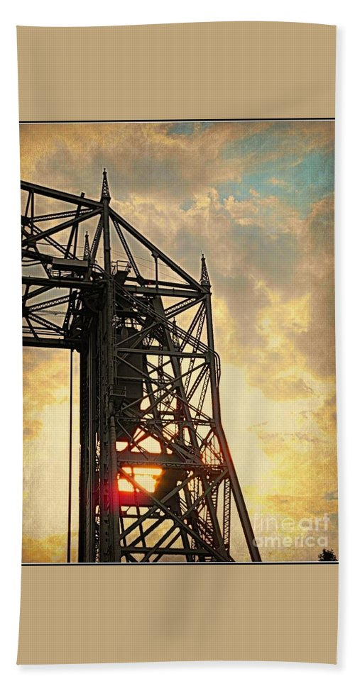 Duluth Lift Bridge Bath Sheet featuring the photograph Duluth Lift Bridge by Beth Ferris Sale
