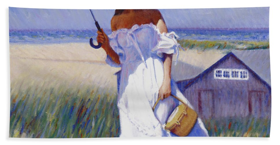 Impressionist Hand Towel featuring the painting Dune High by Candace Lovely
