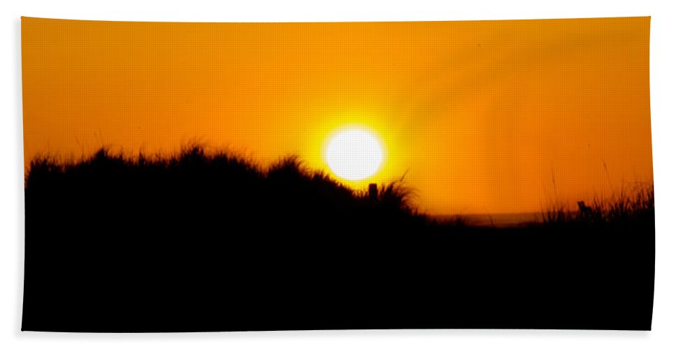 Dune Hand Towel featuring the photograph Dune Sunrise Panorama by Bill Cannon