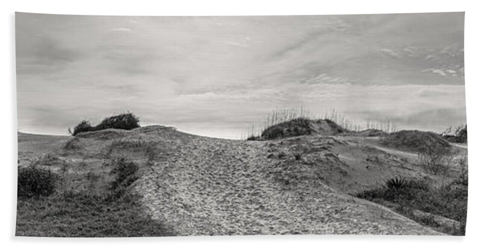 Atlantic Hand Towel featuring the photograph Dune Trail by Debra and Dave Vanderlaan