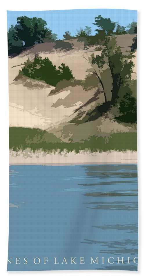 Dunes Bath Towel featuring the photograph Dunes Of Lake Michigan by Michelle Calkins