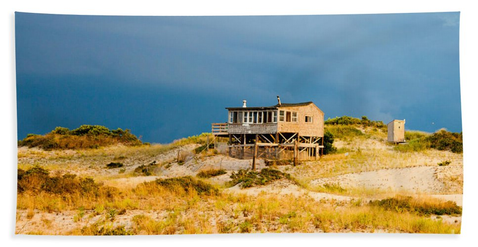 Beach Bath Sheet featuring the photograph Dunes Shack by Thomas Marchessault