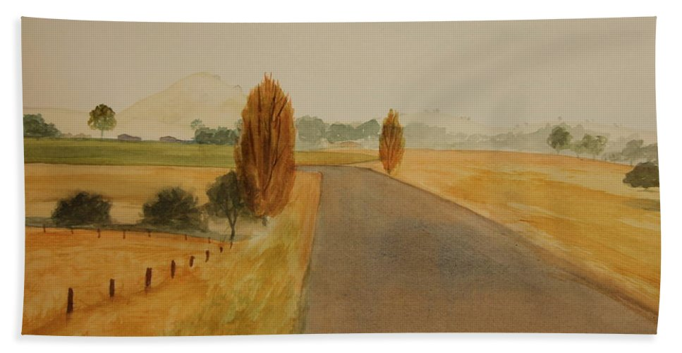 Dungog Bath Sheet featuring the painting Dungog Area Nsw Australia by Tim Mullaney