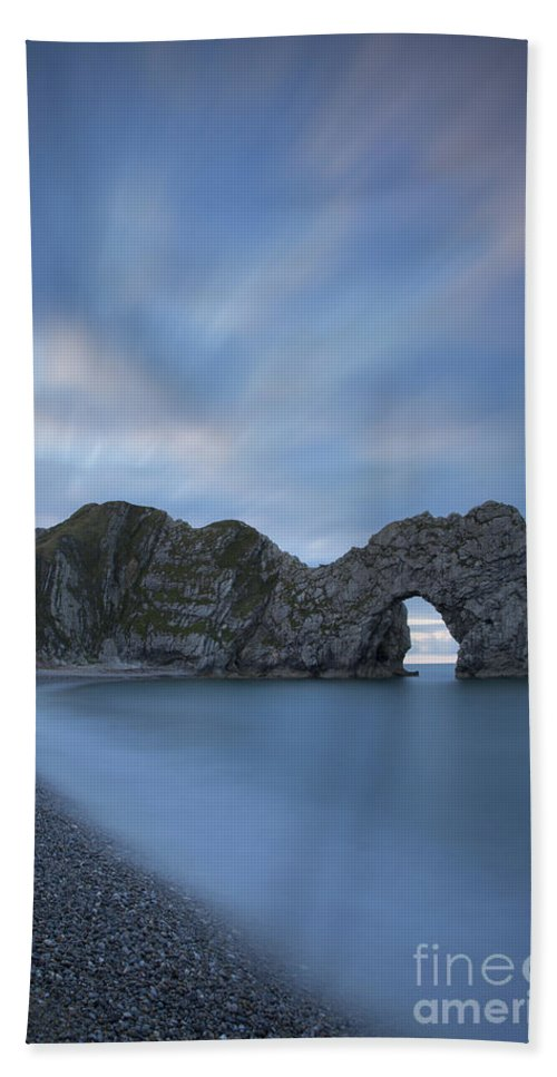 Arch Hand Towel featuring the photograph Durdle Door Colors by Brian Jannsen