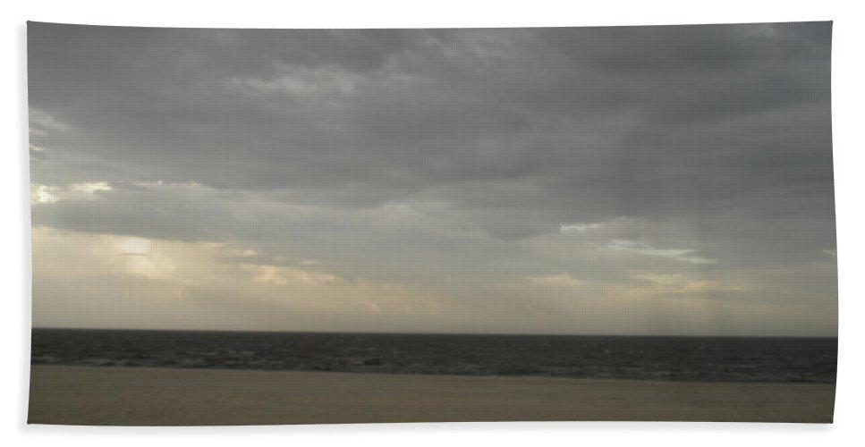 Dramatic Hand Towel featuring the photograph Dusk Beach Walk by Joseph Baril