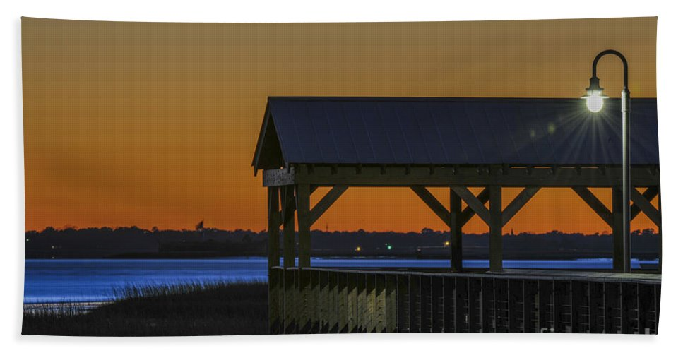 Dusk Hand Towel featuring the photograph Dusk Hues Of Orange by Dale Powell