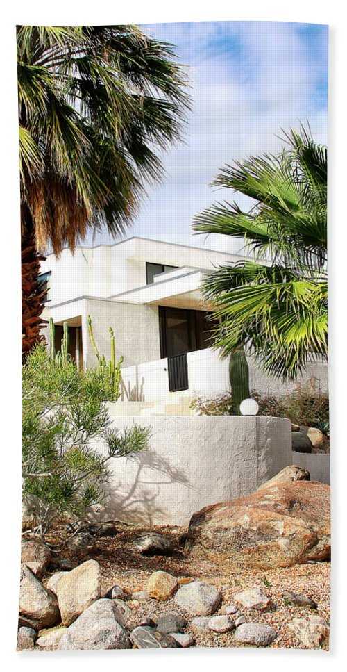 Featured Hand Towel featuring the photograph E. Stewart Williams Home Palm Springs by William Dey