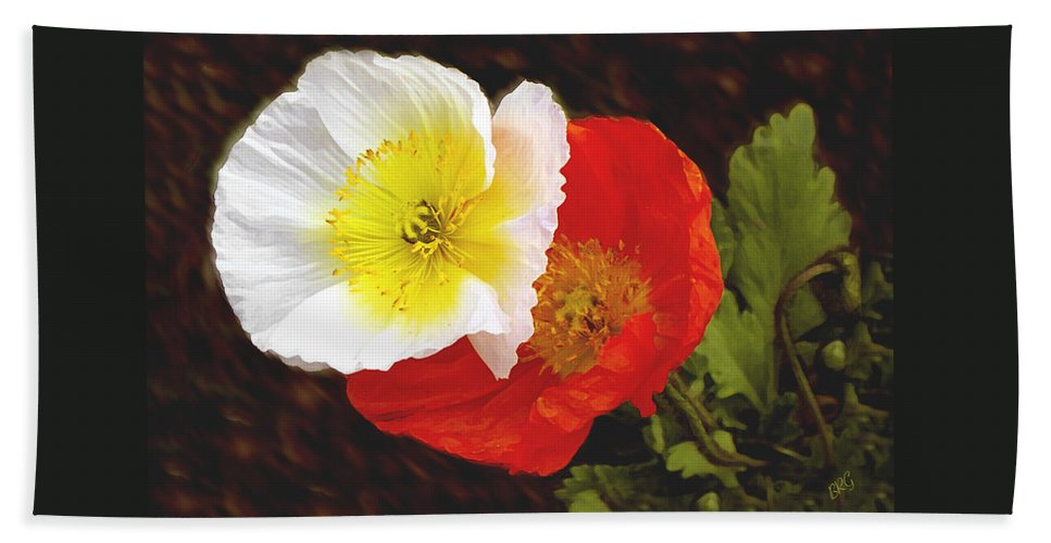 Iceland Poppies Hand Towel featuring the photograph Eager Poppies by Ben and Raisa Gertsberg