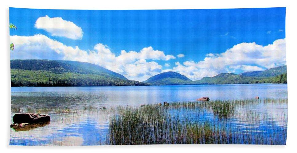Eagle Lake Bath Sheet featuring the photograph Eagle Lake In Acadia by Elizabeth Dow