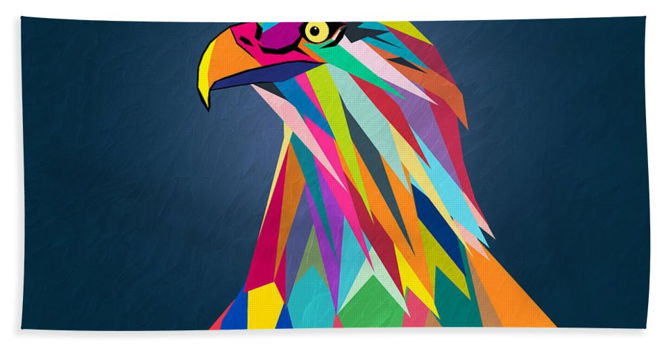 Eagle Bath Towel featuring the painting Eagle by Mark Ashkenazi
