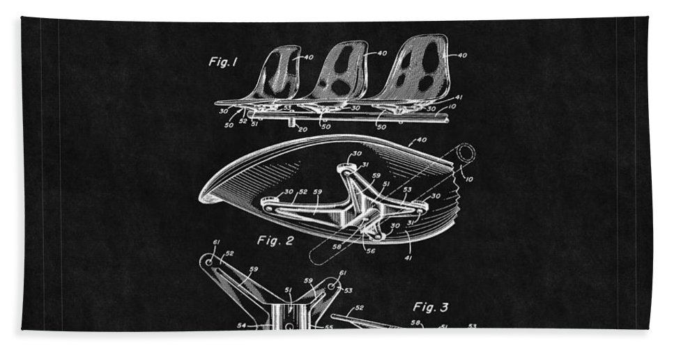 Eames Hand Towel featuring the photograph Eames Chair Patent 4 by Andrew Fare