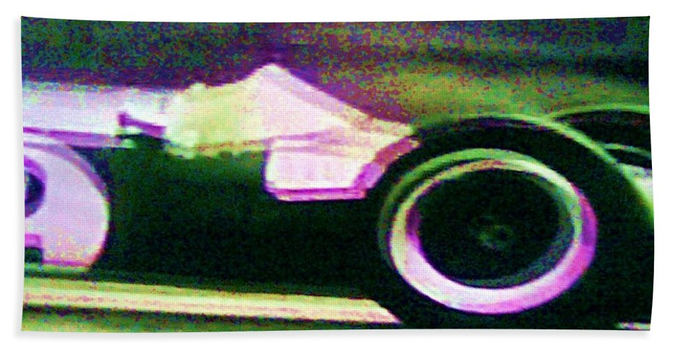 Formula 1 Racing Hand Towel featuring the photograph Early 60's F1 Racer by George Pedro