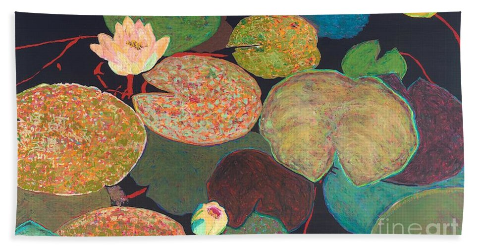 Landscape Bath Sheet featuring the painting Early Mist by Allan P Friedlander