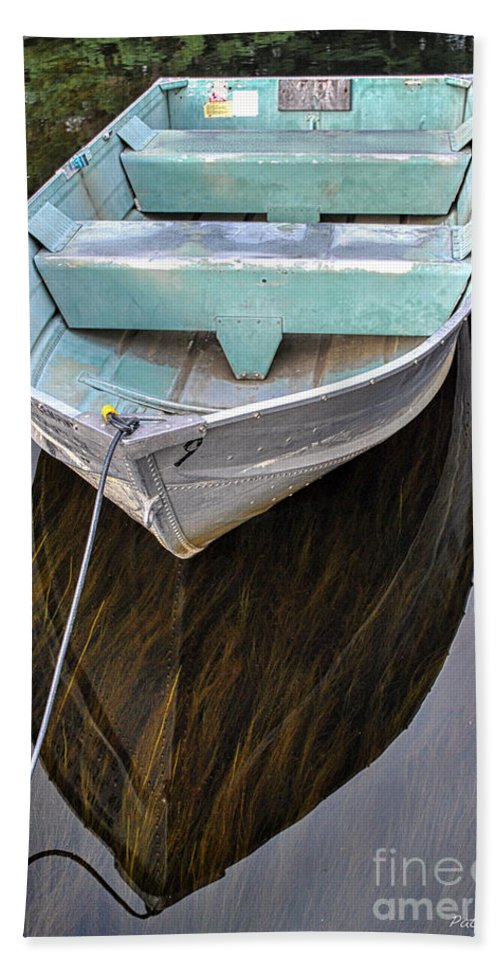 Boat Hand Towel featuring the photograph Early Morning Dock by Pat Lucas