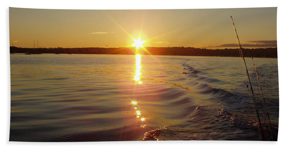 Early Morning Fishing Bath Sheet featuring the photograph Early Morning Fishing by John Telfer