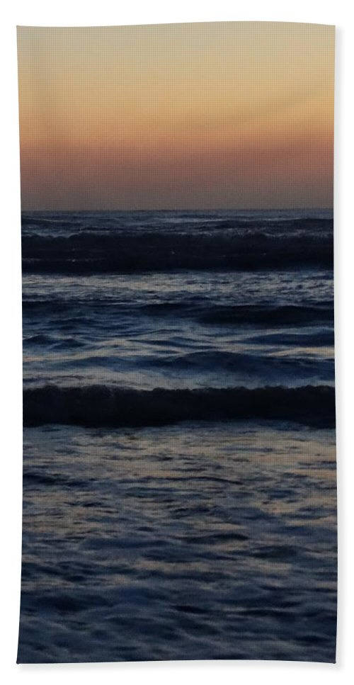 Ocean Hand Towel featuring the photograph Early Morning Ocean by Annie Adkins
