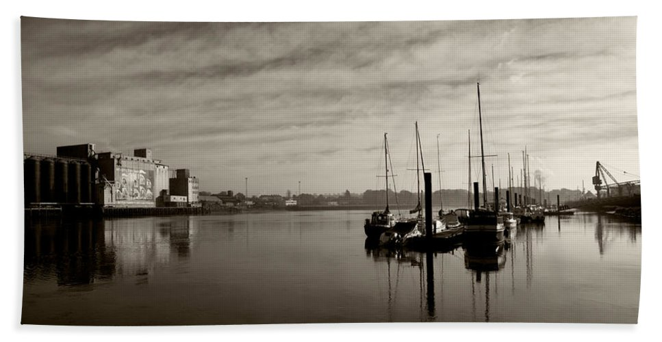Photography Bath Sheet featuring the photograph Early Morning River Suir, Waterford by Panoramic Images